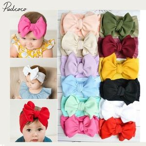 Other - 2 for $10 Soft nylon elastic bow headbands